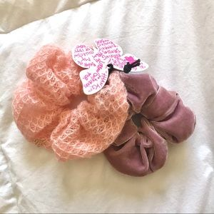 Betsey Johnson and urban outfitters scrunchies